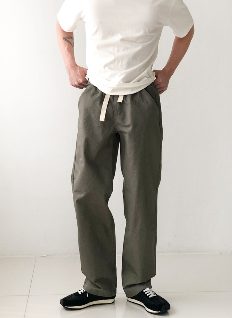 Low Banding Wide Pants(3color)