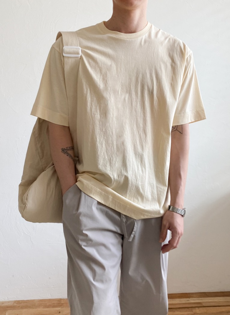 Soft Loose Round T-shirt(9color)