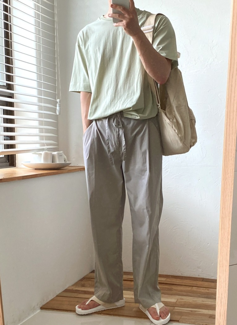 Soft Banding Wide Pants(2color)