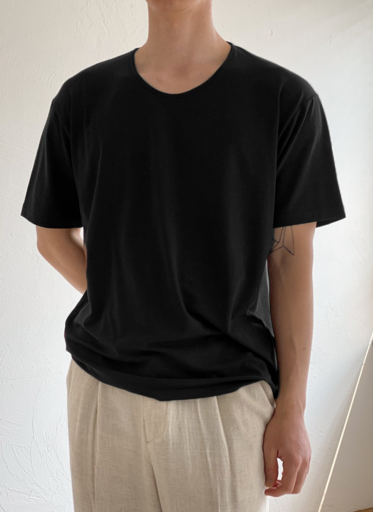 Soft U-neck T-shirt(4color)