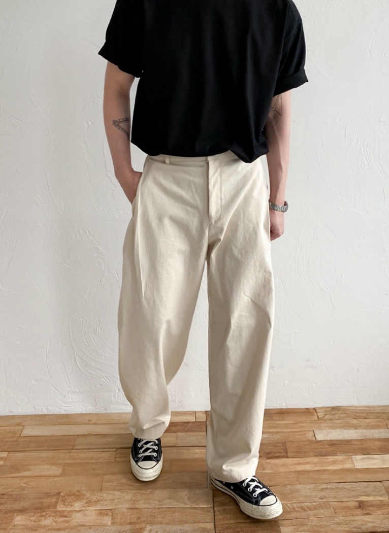 Ballon Wide Cotton Pants(3color)