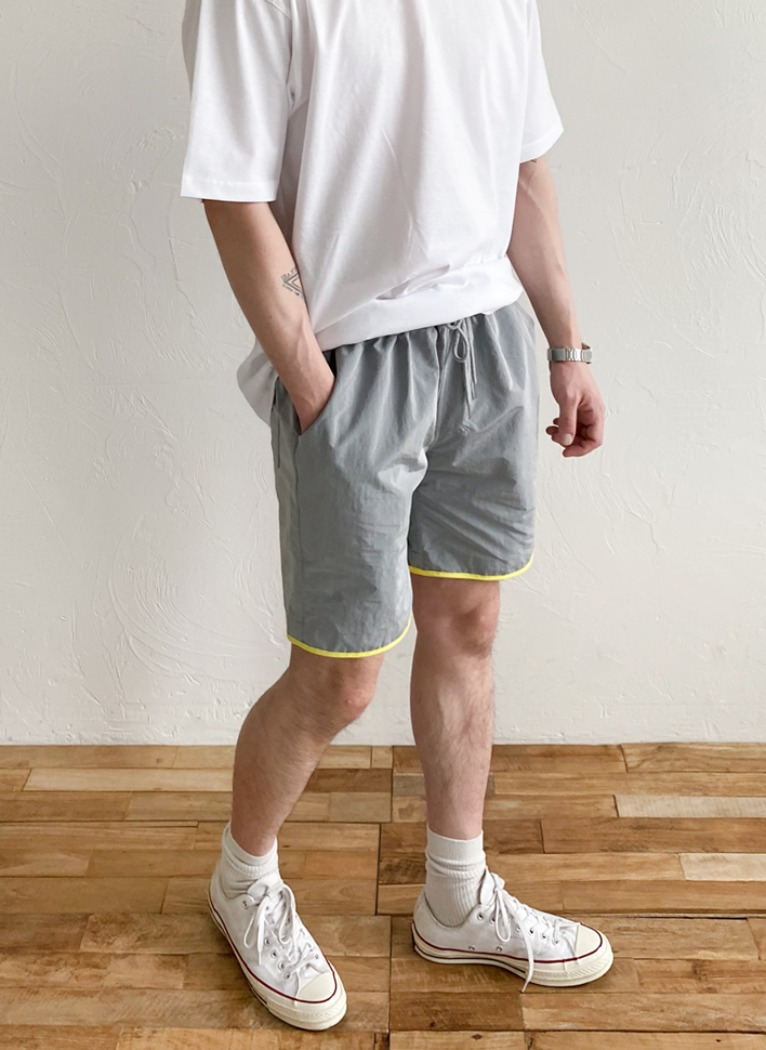 [Set-up] Rip Light Harf pants(3color)
