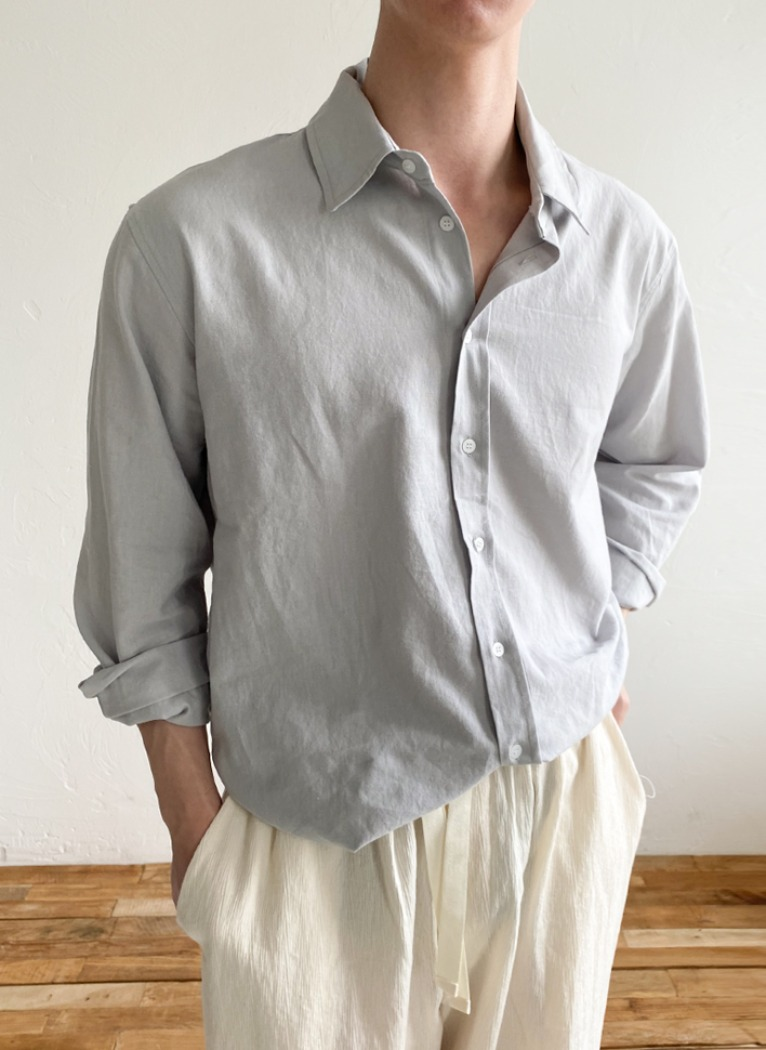 Natural Linen Shirt(4color)