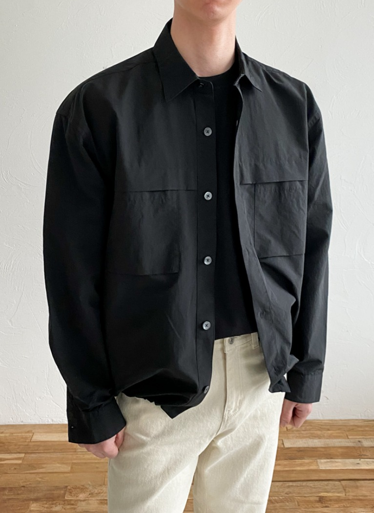 String Nylon Shirt Jacket(3color)